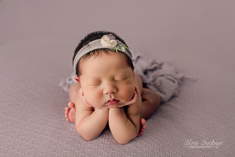 Brooklyn Newborn Photography baby in froggy pose